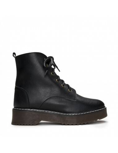 Vegan Lace-up Ankle Boot for Woman...
